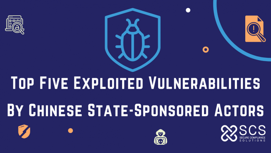 Top Five Exploited Vulnerabilities By Chinese State-Sponsored Actors